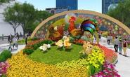 Chụp hình không gian ảo trên Đường hoa Nguyễn Huệ