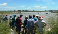 Lật ghe tại khúc sông 9 học sinh đuối nước, 1 người mất tích