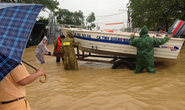 Quảng Nam: Một cán bộ công an mất tích trong lũ