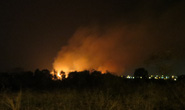 Cháy 11 giờ tại kho đạn cũ, nhiều tiếng nổ long trời