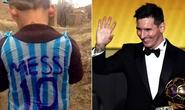"""Fan nhí mặc """"áo rác Messi"""" sẽ được gặp thần tượng"""