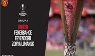 """Man United vào """"bảng tử thần"""" ở Europa League"""