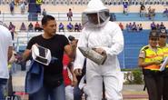 Cầu thủ, CĐV ở Ecuador chạy tán loạn vì ong chích