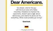 Bức thư độc người Đức gởi cho bầu cử Mỹ gây sốt