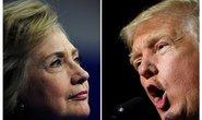 Bầu cử Mỹ: Bà Clinton, ông Trump so kè quá quyết liệt