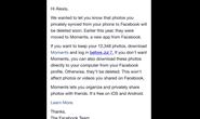Facebook sẽ xóa loạt hình ảnh người dùng đã đồng bộ