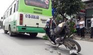 Xe buýt tông thanh niên văng vào dải phân cách, chết tại chỗ