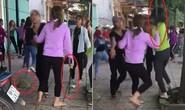 2 nhóm thiếu nữ dùng hung khí lao vào hỗn chiến tả tơi