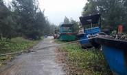 CLIP: Đã có 11 tàu cá bị vỡ ở Côn Đảo vì bão số 16