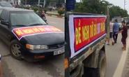Ô tô diễu hành phản đối trạm thu phí BOT