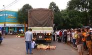 Xe tải nuốt xe máy, một cô gái thiệt mạng