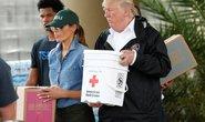 Quay lại Texas, ông Donald Trump chúc nạn nhân bão thời gian tốt lành