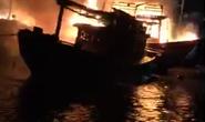 Hỏa hoạn thiêu rụi 4 tàu cá của ngư dân trong đêm