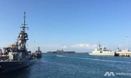 Tàu chiến khắp thế giới đổ về Singapore