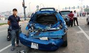 3 xế hộp biến dạng sau tai nạn trên đường Phạm Văn Đồng