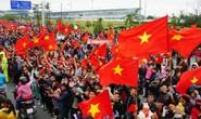Nội Bài tràn ngập sắc đỏ đón U23 Việt Nam