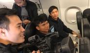 Video độc quyền: U23 Việt Nam ăn mừng trên chuyên cơ
