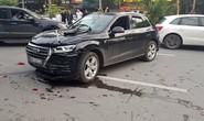 Xe sang Audi Q5 lùi tốc độ cao tông hàng loạt phương tiện