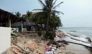 Sóng lớn gây sạt lở nhiều resort ở Mũi Né