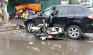 Xe 7 chỗ SantaFe bỗng nổi điên gây tai nạn liên hoàn,  6 người nhập viện