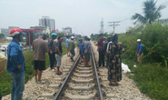 Băng qua đường sắt, đôi nam nữ đi xe máy bị tông tử vong