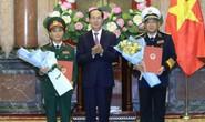 Chủ tịch nước trao quyết định thăng quân hàm cho Tư lệnh Hải quân Phạm Hoài Nam