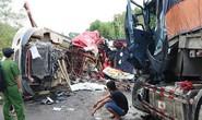 2 xe container đấu đầu, 2 tài xế tử vong trong cabin biến dạng