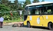 Xe khách tông cụ ông tử vong, hành khách hốt hoảng