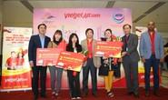 Vietjet tưng bừng chào đón những hành khách đầu tiên năm 2018