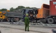 Xe tải chở đá đi sai làn đấu đầu kinh hoàng với xe container