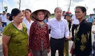 Chủ tịch tỉnh cùng người dân kiểm tra khu tái định cư