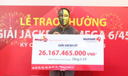Lần đầu tiên, một người nước ngoài trúng vé số Vietlott hơn 26 tỉ đồng