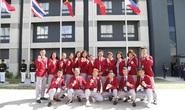 Cờ Việt Nam tung bay trong làng SEA Games 30