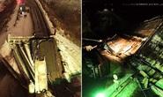 Suýt chết khi cầu vượt đổ sập trước mũi xe
