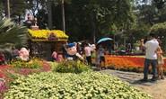 Người dân TP HCM và du khách ùn ùn check in Hội hoa Xuân Tao Đàn mùng 1 Tết