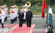Toàn cảnh lễ đón Chủ tịch Triều Tiên Kim Jong-un