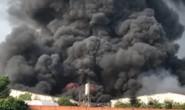 Cháy lớn ở Tây Ninh, khói lửa cuồn cuộn