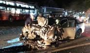 Xe khách đối đầu xe con, 1 cán bộ CSGT tỉnh Lâm Đồng tử nạn