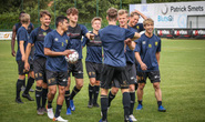 Công Phượng vui đùa cùng đội bóng mới trong trận giao hữu thắng Gent 4-2