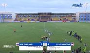 U18 Thái Lan thua sốc Campuchia, xuống cuối bảng tử thần