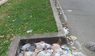 Những miệng cống đầy rác thải