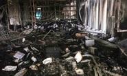 Hiện trường vụ cháy tòa nhà dầu khí Thanh Hóa khiến 2 người chết, 13  người bị thương