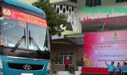 Lãnh đạo LĐLĐ TP HCM bịn rịn tiễn công nhân về quê đón Tết