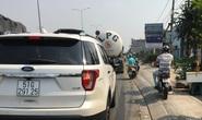 Ghê sợ hàng loạt ôtô tràn vào làn xe máy trên Quốc lộ 1