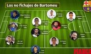 Sốc: Barcelona mua hụt cả đội hình vì… chủ tịch Bartomeu hết tiền