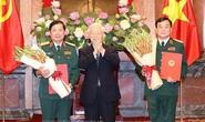 Tổng Bí thư, Chủ tịch nước trao Quyết định thăng quân hàm Thượng tướng cho 2 cán bộ cấp cao Quân đội