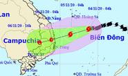 Bão số 10 giật cấp 11 áp sát, miền Trung mưa lớn tới 350 mm từ đêm nay 4-11