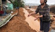 Quảng Ngãi: Thi công dự án làm tắt nghẽn lối thoát nước, gây ngập nhà dân
