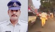 Ấn Độ: Tan chảy trước anh cảnh sát chạy bộ 2 km mở đường cho xe cấp cứu