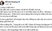 Nghệ sĩ Cát Phượng viết tâm thư xin lỗi NSND Việt Anh
